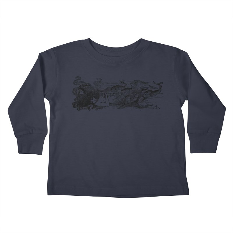 The Little Mermaid Kids Toddler Longsleeve T-Shirt by Green Grackle Studio