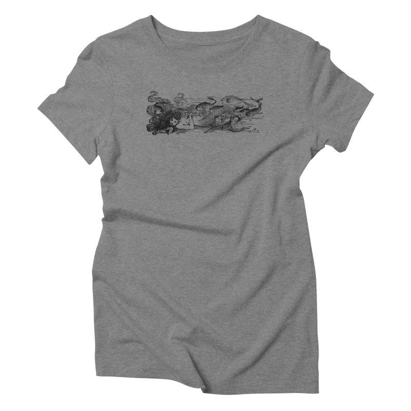 The Little Mermaid Women's Triblend T-Shirt by Green Grackle Studio