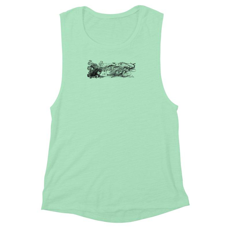 The Little Mermaid Women's Muscle Tank by Green Grackle Studio