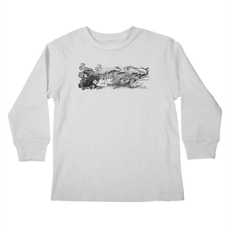 The Little Mermaid Kids Longsleeve T-Shirt by Green Grackle Studio