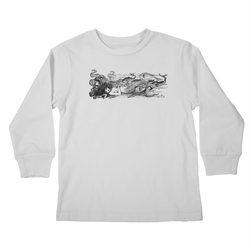 The Little Mermaid Kids Longsleeve T-Shirt by Green Grackle Studio