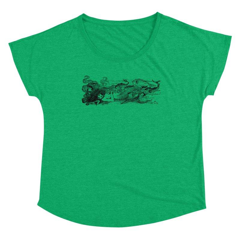 The Little Mermaid Women's Scoop Neck by Green Grackle Studio