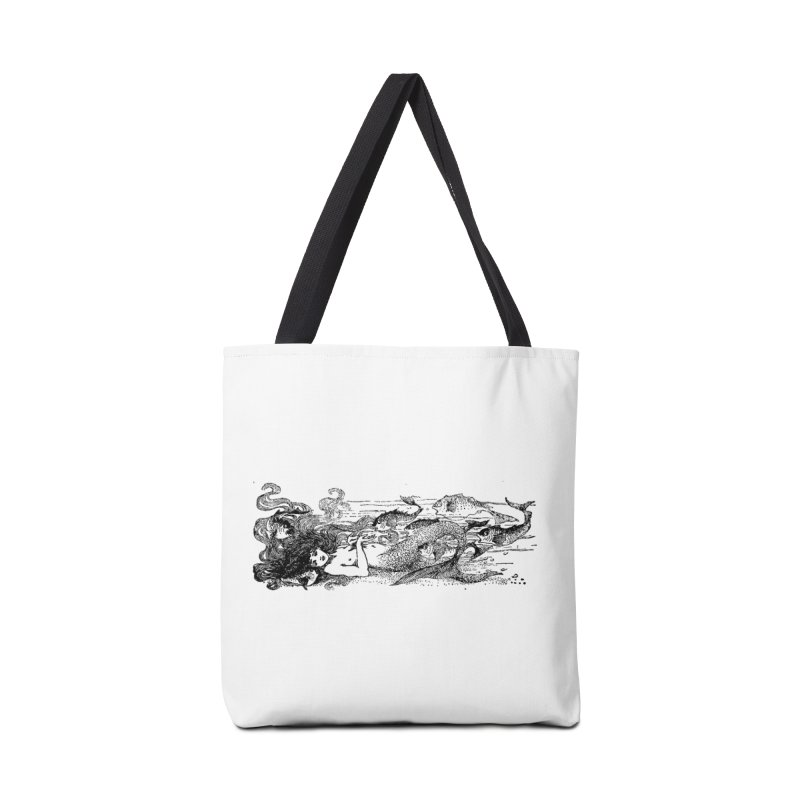 The Little Mermaid Accessories Tote Bag Bag by Green Grackle Studio