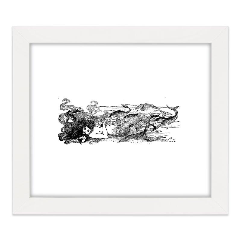 The Little Mermaid Home Framed Fine Art Print by Green Grackle Studio