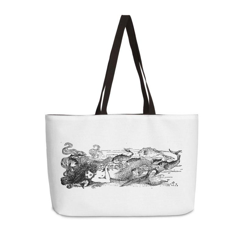 The Little Mermaid Accessories Weekender Bag Bag by Green Grackle Studio