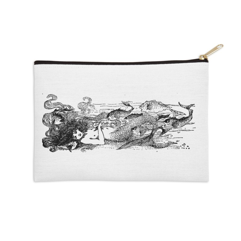 The Little Mermaid Accessories Zip Pouch by Green Grackle Studio