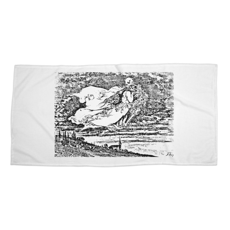 Death and the Maiden Accessories Beach Towel by Green Grackle Studio