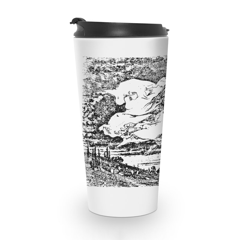Death and the Maiden Accessories Travel Mug by Green Grackle Studio