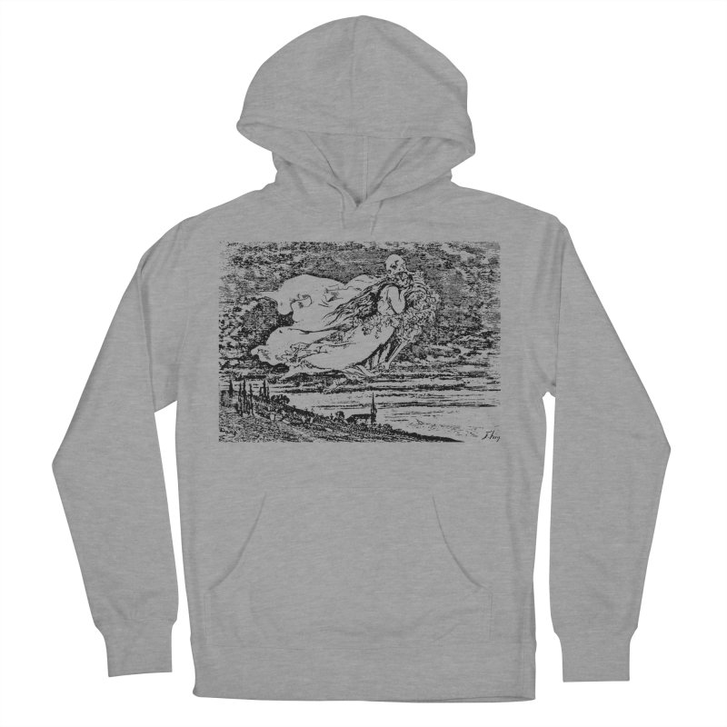 Death and the Maiden Women's French Terry Pullover Hoody by Green Grackle Studio
