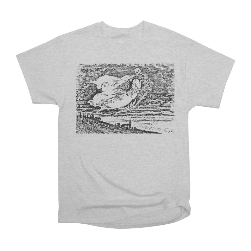 Death and the Maiden Women's Heavyweight Unisex T-Shirt by Green Grackle Studio