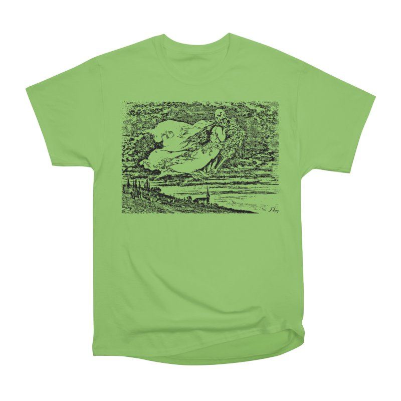 Death and the Maiden Men's Heavyweight T-Shirt by Green Grackle Studio