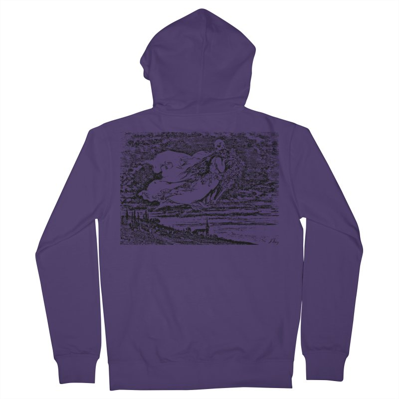 Death and the Maiden Women's Zip-Up Hoody by Green Grackle Studio