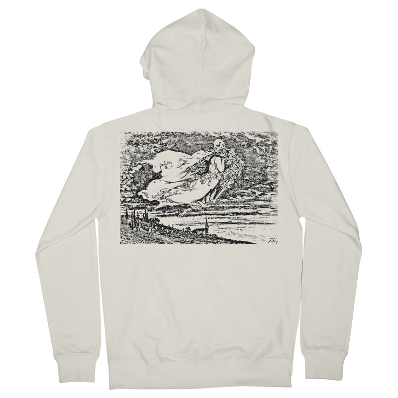 Death and the Maiden Women's French Terry Zip-Up Hoody by Green Grackle Studio