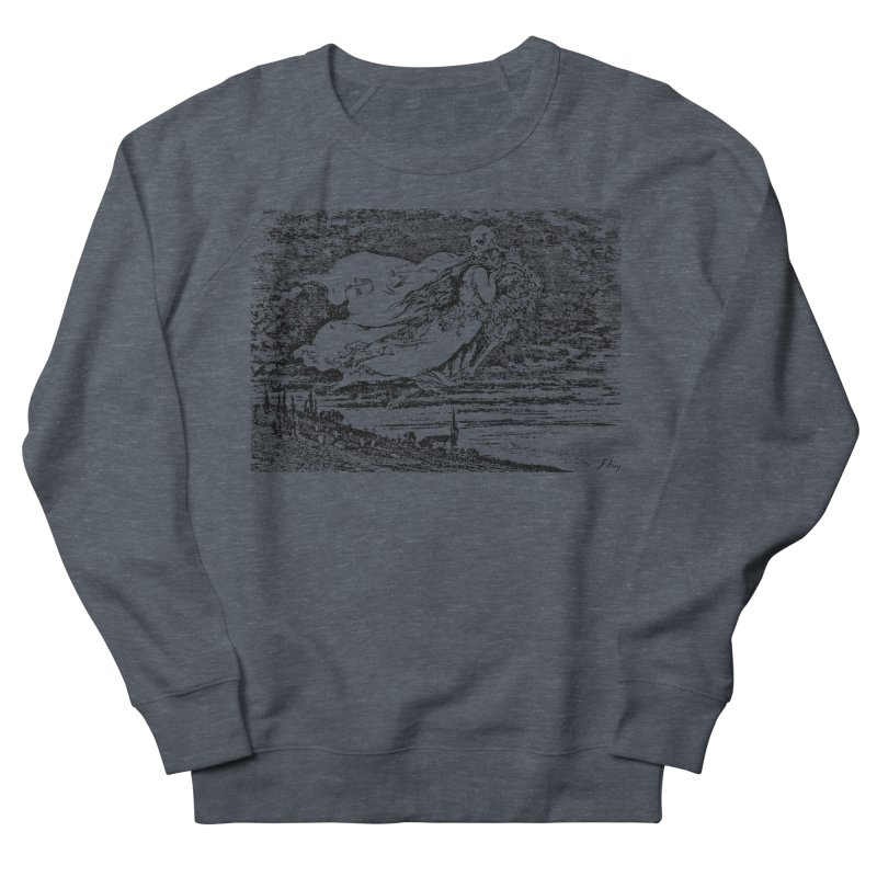Death and the Maiden Women's French Terry Sweatshirt by Green Grackle Studio