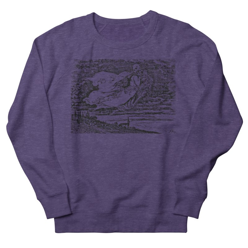 Death and the Maiden Men's French Terry Sweatshirt by Green Grackle Studio
