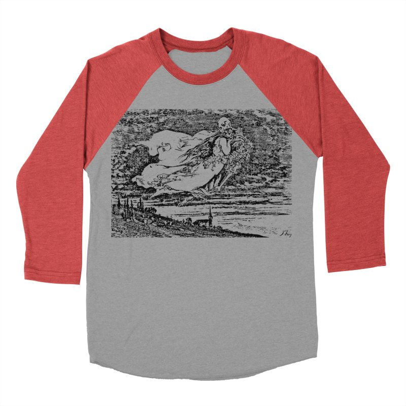 Death and the Maiden Women's Baseball Triblend Longsleeve T-Shirt by Green Grackle Studio