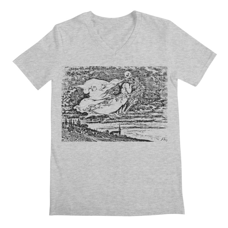 Death and the Maiden Men's V-Neck by Green Grackle Studio