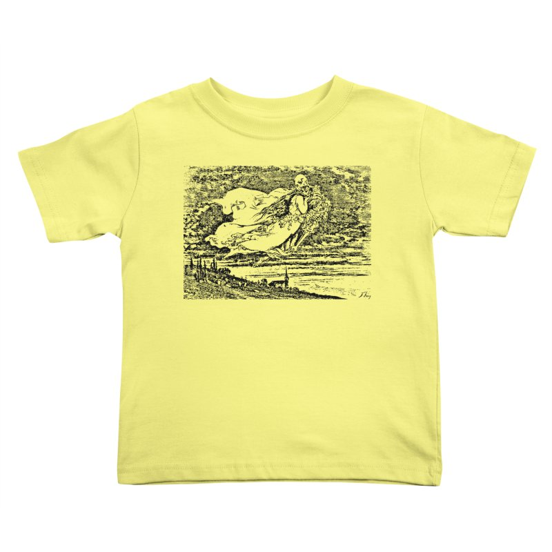 Death and the Maiden Kids Toddler T-Shirt by Green Grackle Studio