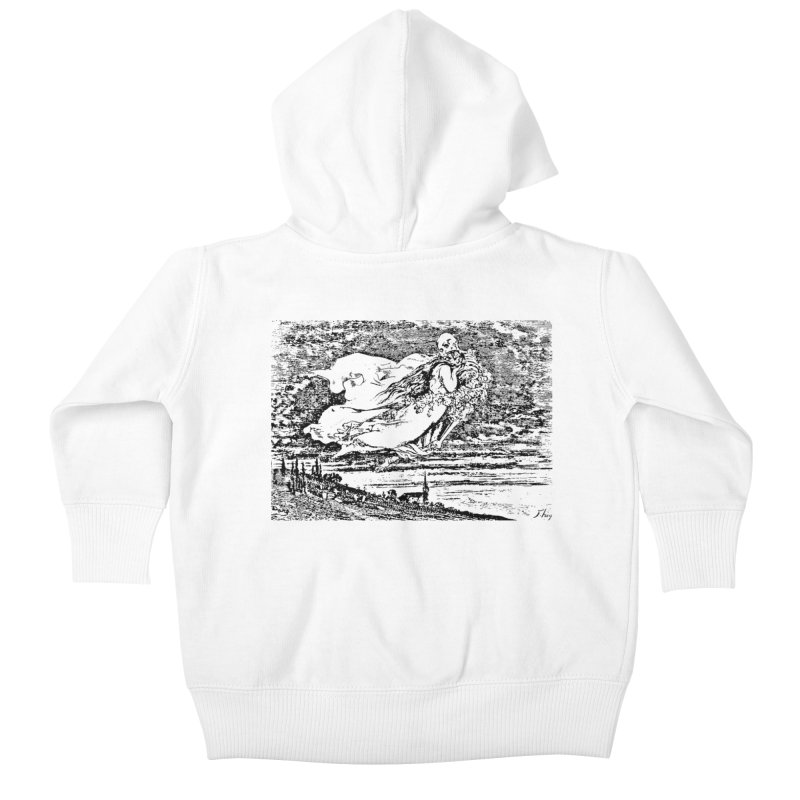 Death and the Maiden Kids Baby Zip-Up Hoody by Green Grackle Studio
