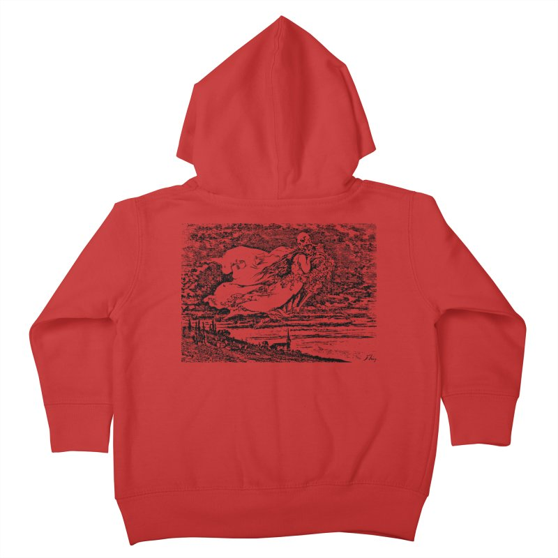 Death and the Maiden Kids Toddler Zip-Up Hoody by Green Grackle Studio