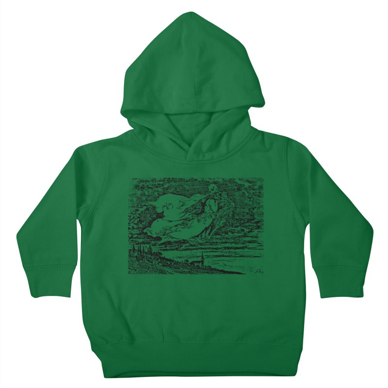 Death and the Maiden Kids Toddler Pullover Hoody by Green Grackle Studio