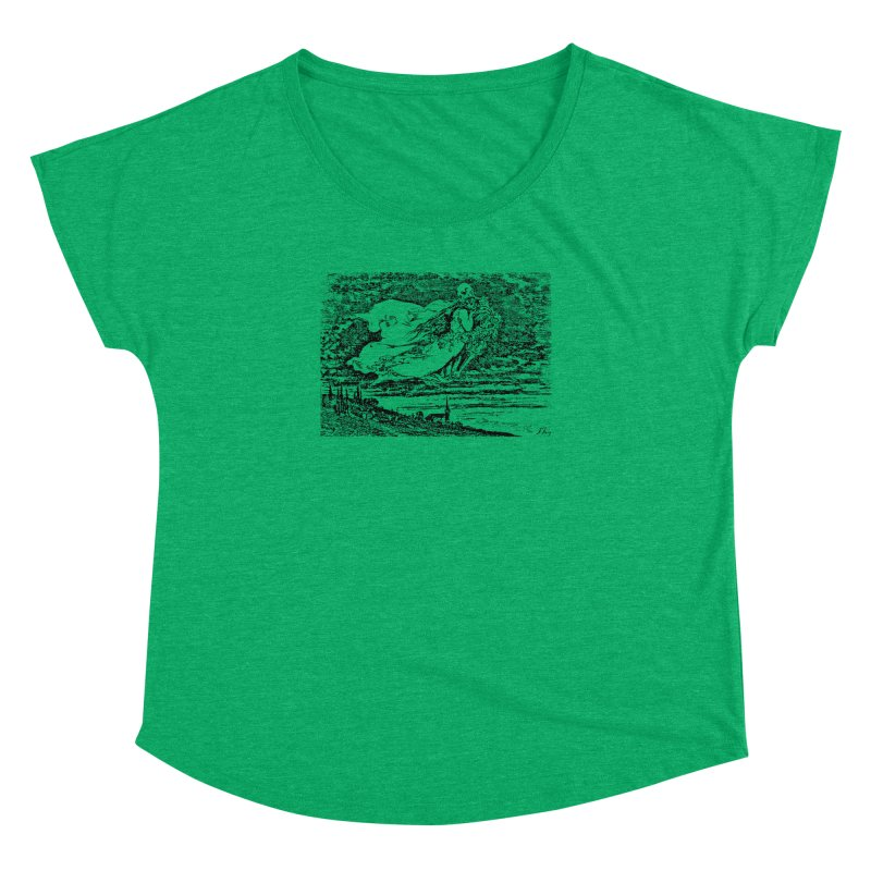 Death and the Maiden Women's Dolman Scoop Neck by Green Grackle Studio