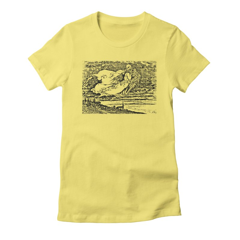 Death and the Maiden Women's Fitted T-Shirt by Green Grackle Studio