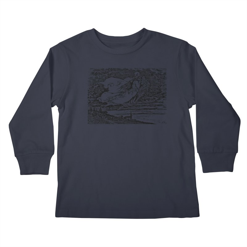 Death and the Maiden Kids Longsleeve T-Shirt by Green Grackle Studio