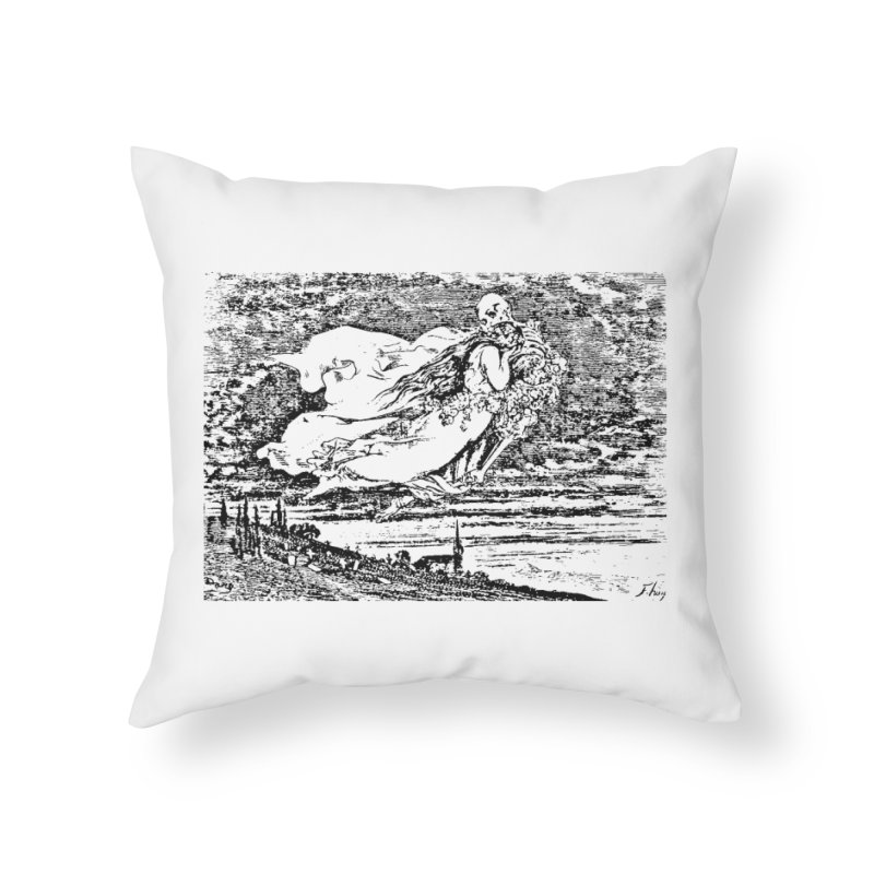 Death and the Maiden Home Throw Pillow by Green Grackle Studio