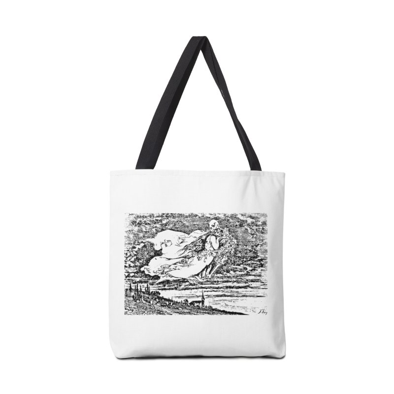 Death and the Maiden Accessories Tote Bag Bag by Green Grackle Studio