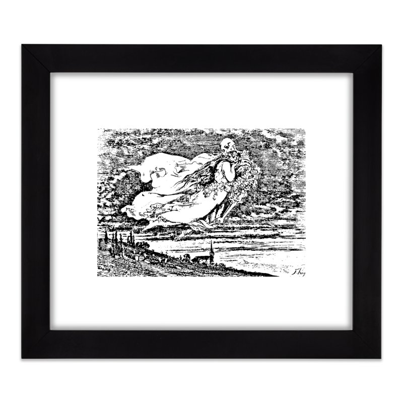 Death and the Maiden Home Framed Fine Art Print by Green Grackle Studio