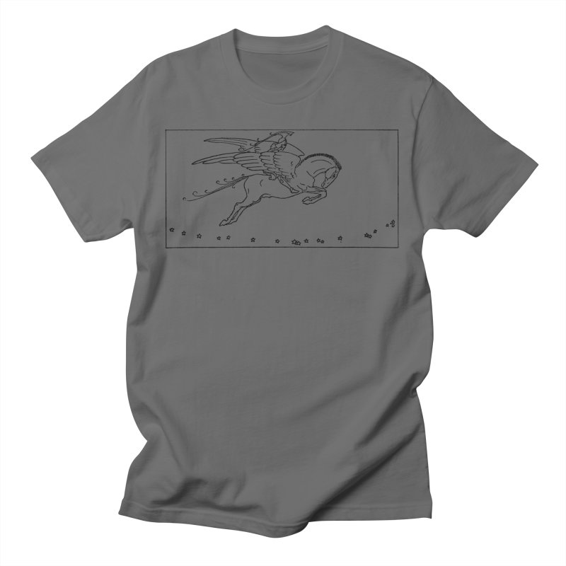 Perseus Riding Pegasus Men's T-Shirt by Green Grackle Studio