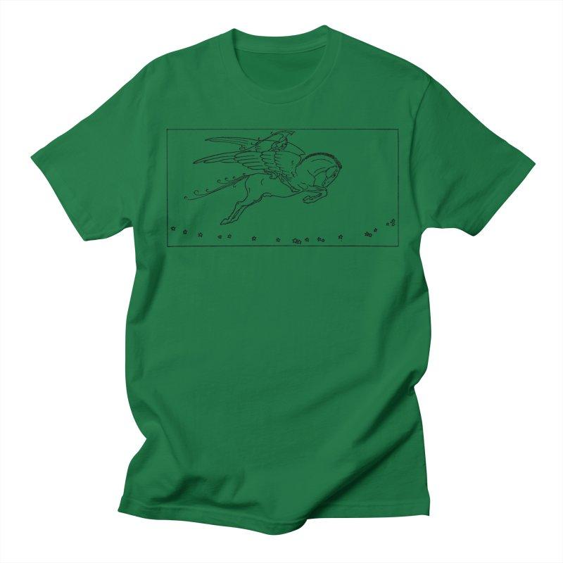 Perseus Riding Pegasus Women's Regular Unisex T-Shirt by Green Grackle Studio