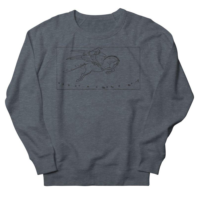 Perseus Riding Pegasus Women's Sweatshirt by Green Grackle Studio