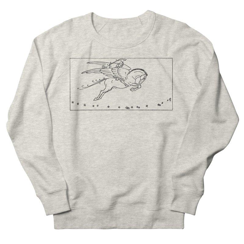 Perseus Riding Pegasus Men's French Terry Sweatshirt by Green Grackle Studio