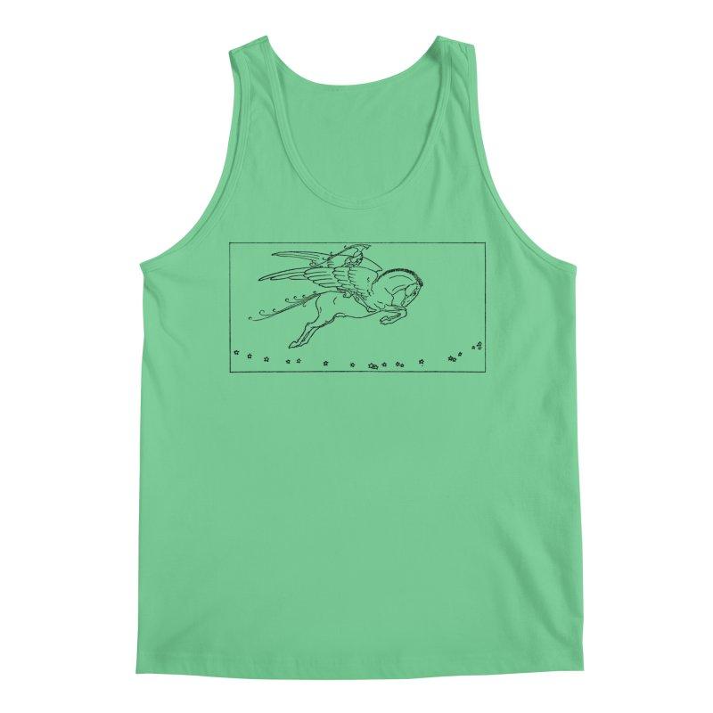 Perseus Riding Pegasus Men's Regular Tank by Green Grackle Studio