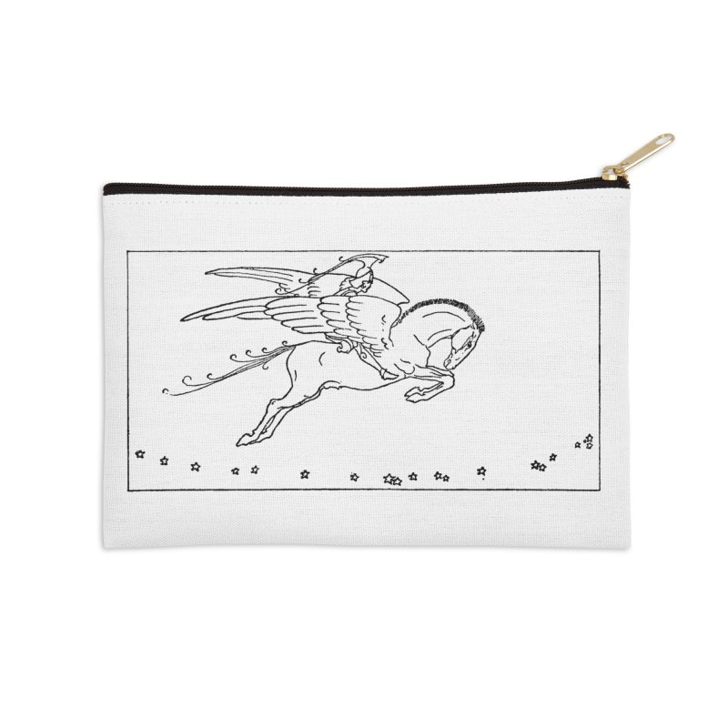 Perseus Riding Pegasus Accessories Zip Pouch by Green Grackle Studio