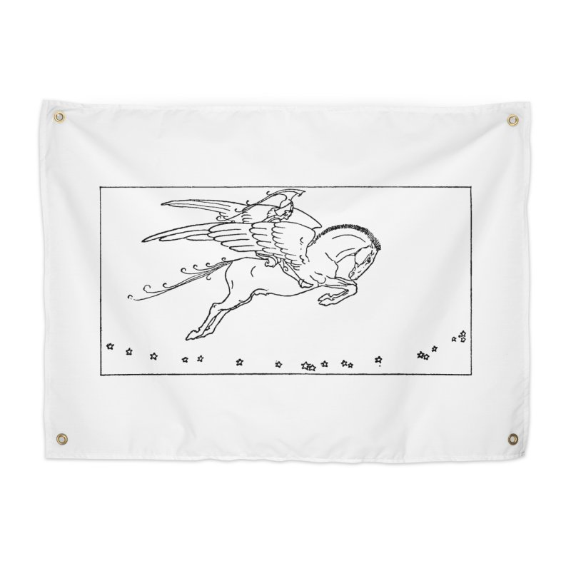 Perseus Riding Pegasus Home Tapestry by Green Grackle Studio