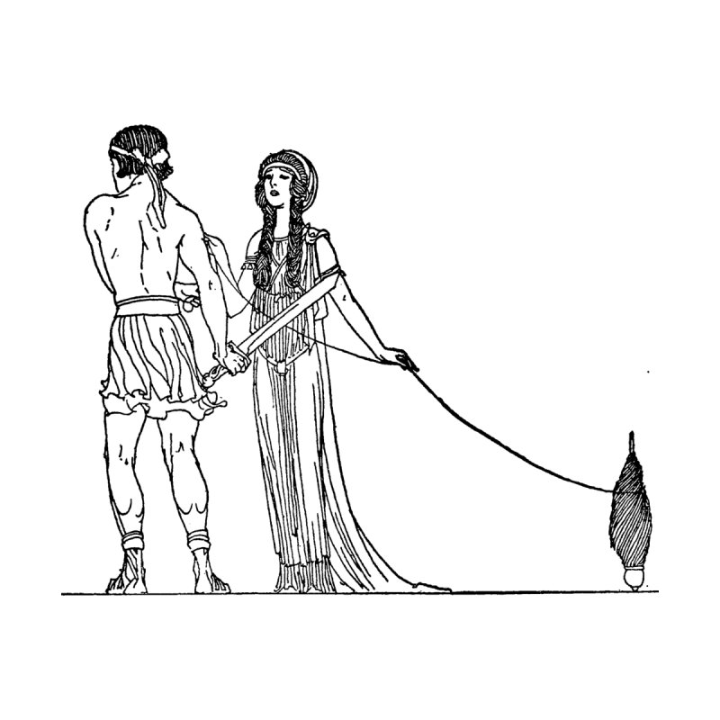 Theseus and Ariadne by Green Grackle Studio