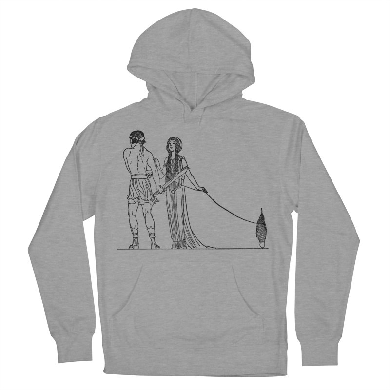 Theseus and Ariadne Men's French Terry Pullover Hoody by Green Grackle Studio