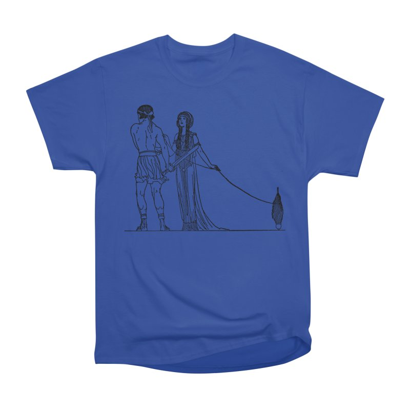 Theseus and Ariadne Men's Heavyweight T-Shirt by Green Grackle Studio