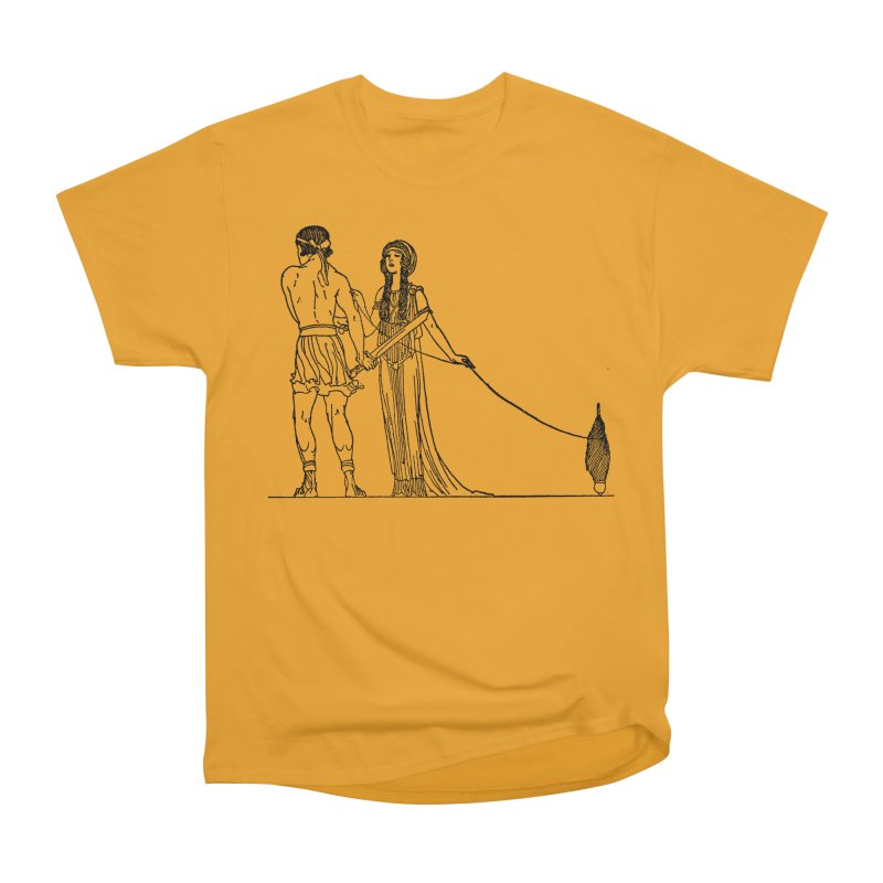 Theseus and Ariadne Women's Heavyweight Unisex T-Shirt by Green Grackle Studio
