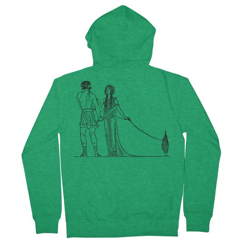 Theseus and Ariadne Women's French Terry Zip-Up Hoody by Green Grackle Studio