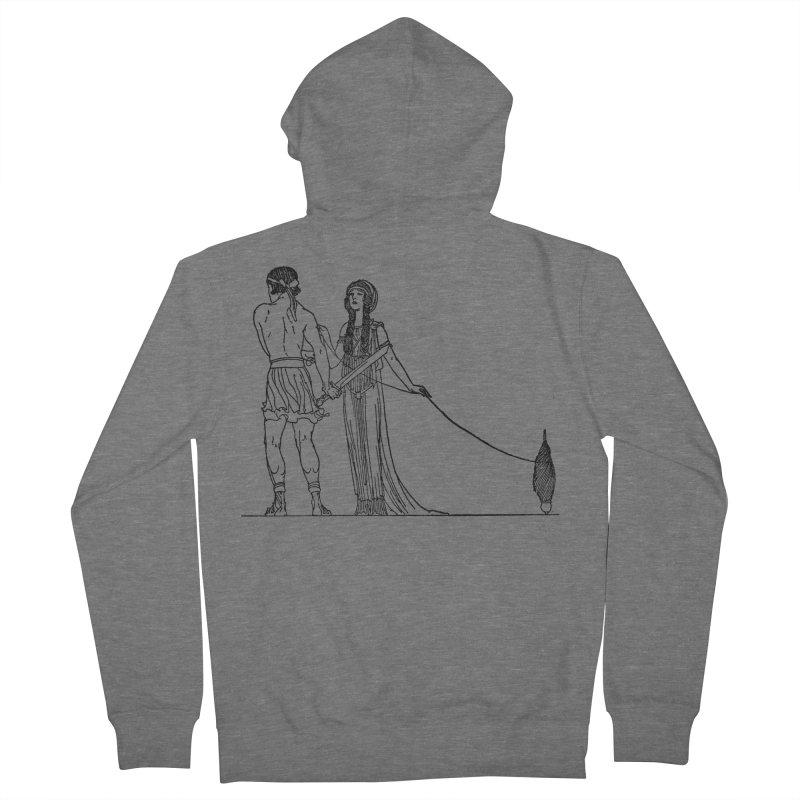 Theseus and Ariadne Men's Zip-Up Hoody by Green Grackle Studio