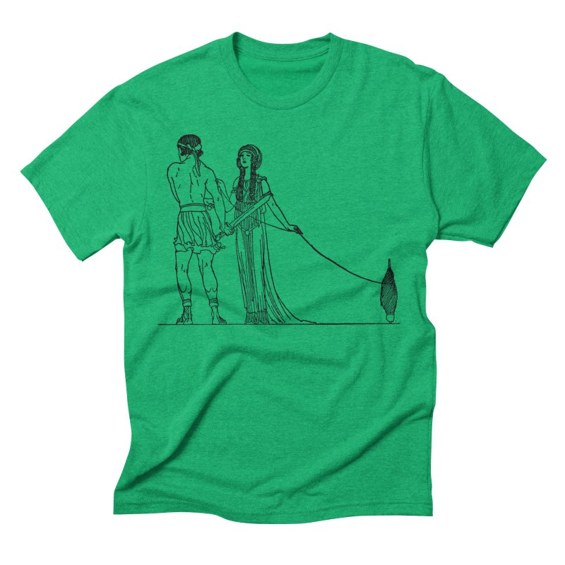 Theseus and Ariadne Men's Triblend T-Shirt by Green Grackle Studio