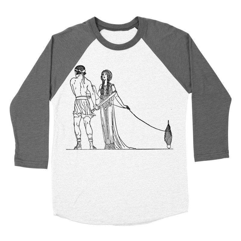 Theseus and Ariadne Women's Baseball Triblend Longsleeve T-Shirt by Green Grackle Studio