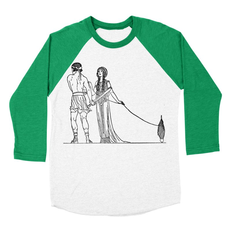 Theseus and Ariadne Women's Baseball Triblend Longsleeve T-Shirt by Green Grackle Studio