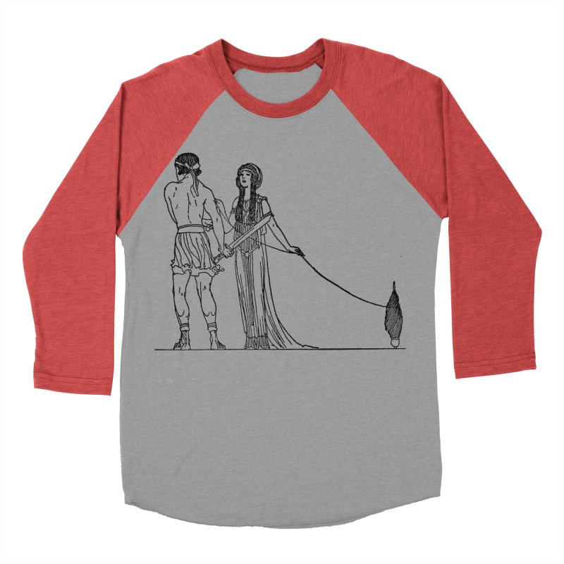 Theseus and Ariadne Men's Baseball Triblend Longsleeve T-Shirt by Green Grackle Studio