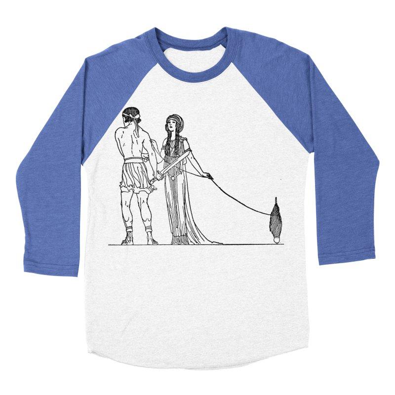 Theseus and Ariadne Men's Baseball Triblend Longsleeve T-Shirt by Green Grackle Studio