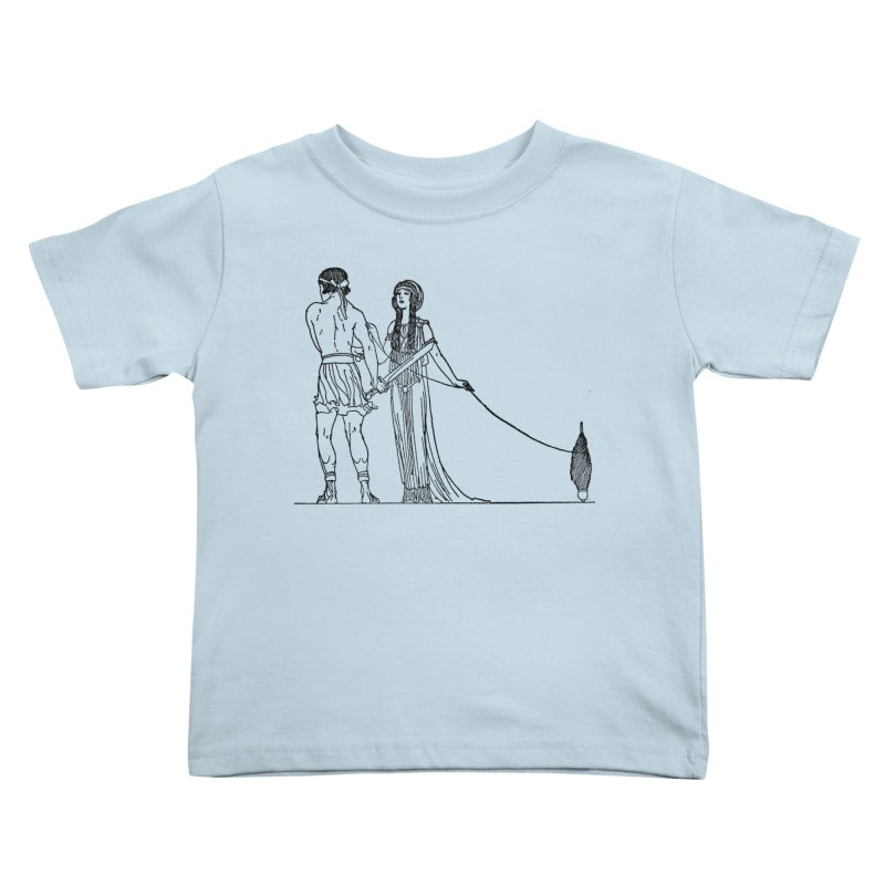 Theseus and Ariadne Kids Toddler T-Shirt by Green Grackle Studio